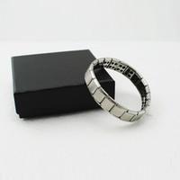 оптовых энергетические браслеты баланс мощности-Новый серебряный титана браслет здоровья Сила Nano Energy Германий Магнитный баланс Ion Мощный!