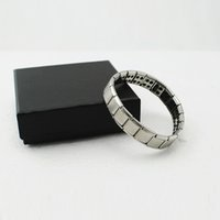 Wholesale New Silver Titanium Health Bracelet Power Nano Energy Germanium Magnetic Balance Ion Powerful