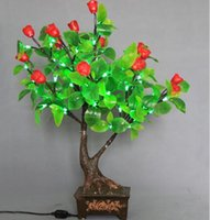 Indoor Christmas Decoration   Artificial Flower LED Glow Christmas Tree Bonsai Landscape Lighting Night Light For Wedding Party Christmas Decoration Free Shipping