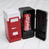Wholesale Best Price Colors Red and Black Mini USB Protable LED PC Fridge Refrigerator Drink Cans Food Cooler Warmer