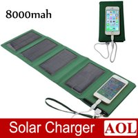 battery charger efficiency - Portable mAh Folding Solar Panel Charger Bag for Mobile Phone Tablet Camera High efficiency Travel Solar Battery Charger Power Bank