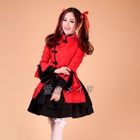japanese dress style - sexy Hot Sale Chinese Style Mai Hime Red Black Cosplay Girls Lolita Dress Fantasia Halloween Christmas Costumes For Women Plus Size M L