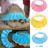 Wholesale Colors Safe Shampoo Shower Bath Protection Soft Caps Baby Hats For Kids years New HR001
