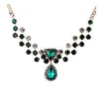 Wholesale Fashion decoration necklace beauty jiada had female short design chain blue crystal fashion sweater accessories