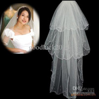 Three-Layer best muslims - New Arrival Hot Sale Big Discount Three Layer Beaded White Best Price Bridal Veil For Wedding