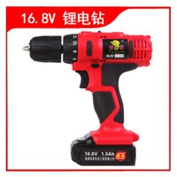 Wholesale Tekken V V lithium rechargeable drill double speed drill hand drill pistol drill multifunction household electric screwdri
