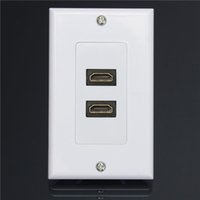 audio cable wall plate - Dual Port HDMI Panel Wall Outlet Cover Face Plate Cable Coupler Extension Socket Media Audio Video HDTV P order lt no track