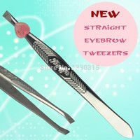 Wholesale 2015 New arrival Lady Stainless Steel Shape Tool Eyebrow Clip Tweezer with pc with package vMTl