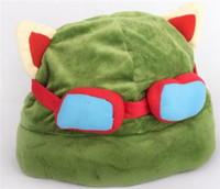 Wholesale Retail Hot game League of Legends cosplay cap Hat Teemo hat Plush Cotton LOL plush toys Hats