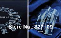 Wholesale Nail art tools Half Full transparent Clear Natural Acrylic False Nail Sclerite Begin Fake French Nail Tips