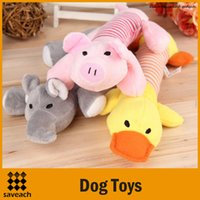 Wholesale 2015 New Dog Toys Pet Puppy Chew Squeaker Squeaky Plush Sound Duck Pig Elephant Toys Designs