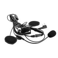 Wholesale Full Face Helmet Motorcycle Racing Headset Earpiece For Baofeng UV5RE Kenwood Wouxun Quansheng HYT Radio