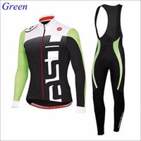 c037 - Winter Cycling Jersey for Men Autum Long Sleeve Cycling Tights and Bib Pants popular Cycling Sportwear Sets C037