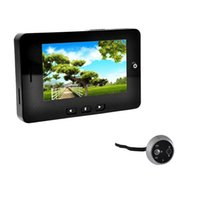 Wholesale 4 quot TFT LCD Video Door Phone Smart Digital Peephole Viewer Visual Doorbell Camera Megapixel Monitoring Motion Detection order lt no tra