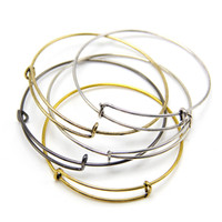 Charm Bracelets alloy spring steel wire - 2015 Hot Sell DIY Jewelry Alex and Ani Wire Wrap Bangle Silver Gold Color Metal Bracelets Expandable Alex Ani Bangles