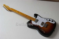 Wholesale custom OEM half hollow body tele electric guitar accept upgrade material and hardware hot selling guitars