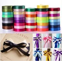 Cheap Pretty Silk Satin Ribbon 15mm 250Yards 22M Wedding Party Decoration Invitation Card Gift Wrapping Christmas Supplies riband