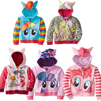 Wholesale Girl Jackets Children Jacket Children s Cartoon Girls Spring Section Zipper Ma Baoli Terry coat Hooded Jacket for Children Children Jacket B