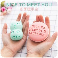 Wholesale Poly cute Macarons color hand warmer creativity can replace the warm core heating speed and warm baby