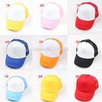 kids sun hats - 5pcs New Arrival Adjustable Child Solid Casual Hats for New Classic Trucker Summer Kids Baseball Golf Mesh Cap Sun Hats
