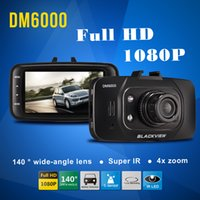 Wholesale new DM6000 quot LCD Screen P Car DVR FHD Degrees Wide Angle G sensor Motion Detection IR Night Vision Camera Video Recorder DHL Free