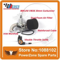 Wholesale MIKUNI Carburetor VM26 PZ30 Mainfold Intake Pipe Air Filter Visiable Throttle Settle Cable Fit IRBIS Motorcycle Dirt Bike order lt no t