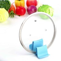 Wholesale 1PC High Quality Wave Style Pan Pot Cover Lid Rack Cellphone Spoon Stand Holder Display Cooking Tools Accessories