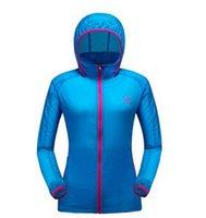 Gros-8 à séchage rapide Anti-UV Colorions Outdoor Hommes Femmes Waterproof Protecteur Vent Pluie Ultraléger ultra-mince veste de peau à vélo