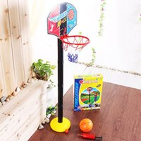 Cheap 115cm Height Adjustable Super Inflatable Basketball Toys Sport Set for Children Kids Fitness Indoor Outdoor Playing