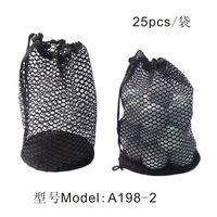 golf balls - Nylon Mesh Nets Bag Pouch Table Tennis Black Portable Storage Drawing String Closure Golf Ball Holder Balls accessories