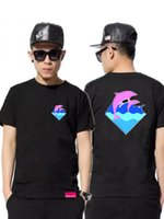 Cheap Wholesale-pink dolphin hip hop for men fashion tshirts brand name clothing skateboard graphic tees pinkdolphin t-shirt t shirts