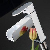 Cheap KINSE Temperature Sensor Controlled Mixer Tap Bathroom Waterfall Spout Basin Sink Faucet LED Faucet order<$18no track