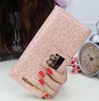 Wholesale 2014 New Metal Buckle Clip Women Brand Wallet Leopard Hasp Cute BowKnot Card Holder Bag Purse Clutch Coin Pocket WBG1125