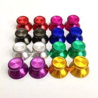 Wholesale Universal Replacement Aluminum Alloy Metallic Metal Analog Thumbstick Thumb Stick Button Fit for PS4 Dualshock Controller Parts Key
