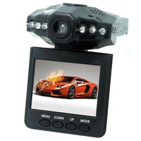 2.5 '' Dash levas del coche sistema de cámara grabadora DVR coche negro cuadro de la versión H198 noche grabador de vídeo cámara de la rociada 6 IR LED