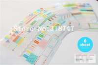 Wholesale 85 mm DIY Scrapbook diary stickers set sheets
