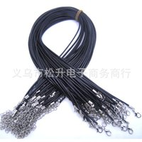 african jewelry making - Black Cowhide chain Leather Cord Necklaces For Women Jewelry Making DIY jewelry components