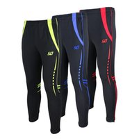 Wholesale Men Compression Long Pants Polyester Running Base Layers Skins Tights Cycling Bike Soccer Pants New joggers Trousers