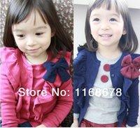 Wholesale Latest Girls long sleeved jacket bow