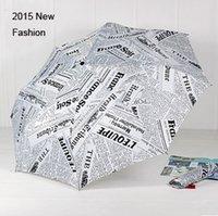 adult newspapers - New Fashion Non automatic Sun Protection Umbrella Folding Umbrellas Adults Guarda Chuva Creative White Newspaper Parasol YS002