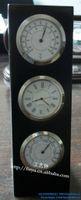 bell advertising - Wooden desk clock L type craft clock weather clock hygrometer gift clock multifunction advertising bell