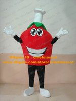 Cheap Red Strawberry Berries Mascot Costume With Happy Face Big Head Mascotte Adult Cartoon Character Fancy Dress No.25 Free Shipping