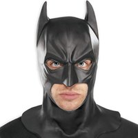 batman cowl - Batman The Dark Knight Cowl Replica Latex mask Hood Silicone Halloween Party Black Mask Cosplay Black mask