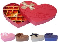 Wholesale Chocolate box Packaging Bow gift Food Boxes gift Storage Birthday Party Wedding Supplies Favor Holders