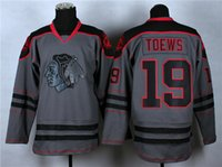 Wholesale Popular Blackhawks Toews Hockey Jerseys for Stanley Cup Champion Hockey Wears Chicago Hockey Jerseys Grey Hockey Jersey Hot Sale