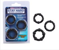 Wholesale NEW Triple rubber Penis cock Ring ST AV Impotence erection Erection Cock Sexy Aid Toy Kit