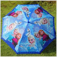 Wholesale Children Umbrella Elsa Anna Olaf Rain and Sun Proof Children Frozen Umbrella cm Series DHL