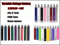 Wholesale 100 Top Quality Evod eGo C Twist Battery mah Vision Spinners Variable Voltage VS Vision Spinner ii iii Batteries