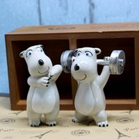 Wholesale Creative pastoral Office desktop Tchotchkes cartoon unlucky bear animal furniture Decor rooms resin dolls