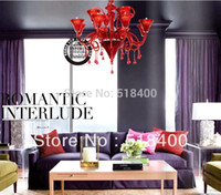 amp diameter - New Name Brand Modern Luxury Bedroom Drawing Room Dining Room Hall Red Crystal Pendant Chandelier amp cm Diameter